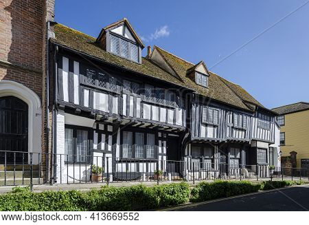 May 2015, Hastings, East Sussex, Uk -  Ancient Buildings In The Old Town In Hastings, Sussex, Uk In