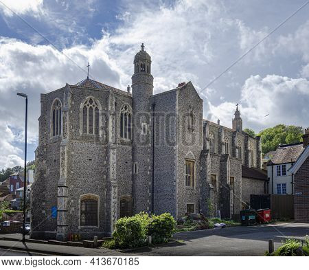 May 2015, Hastings, East Sussex, Uk -  Saint Mary Star Of The Sea, Roman Catholic Church Built With