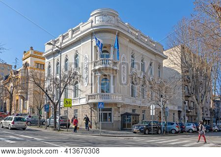 Belgrade, Serbia - February 23, 2021: Greek Embassy Building In Old Belgrade, Serbia.