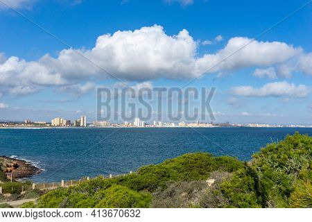 A View Of The Cape Palos And Mar Menor Shore In Murcia In Spain