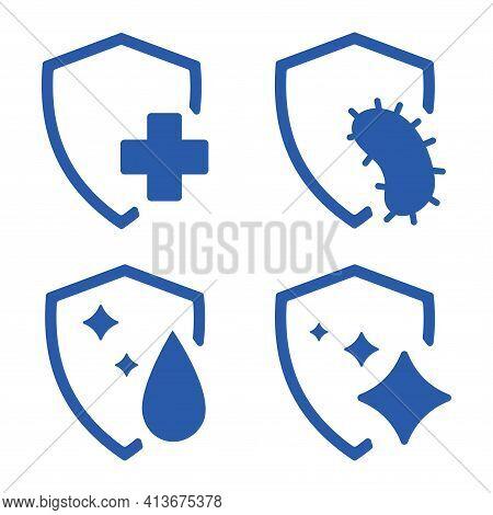 Immune Guard. Healthy Bacteria, Virus Protection. Stop Virus. Antibacterial Protection Or Immune Sys