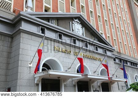 Manila, Philippines - November 25, 2017: Palacio Del Gobernador (governor's Palace) In Manila, Phili