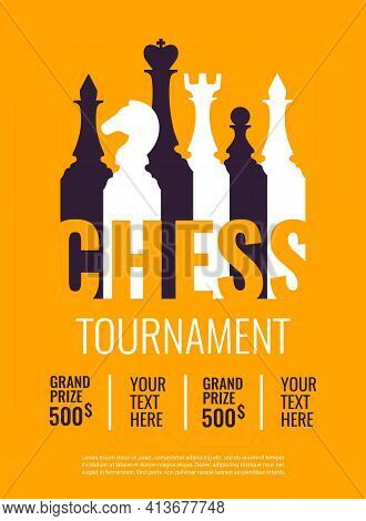 Vector Illustration About Chess Tournament, Match, Game. Use As Advertising, Invitation, Banner, Pos