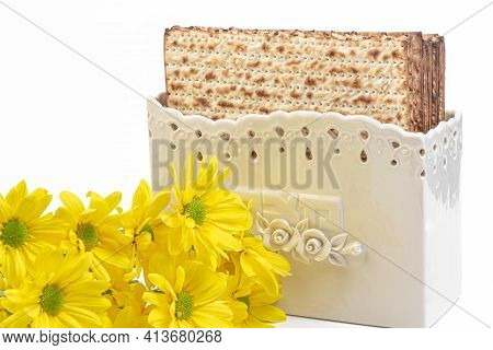 Matzo In A Special Box (with The Words