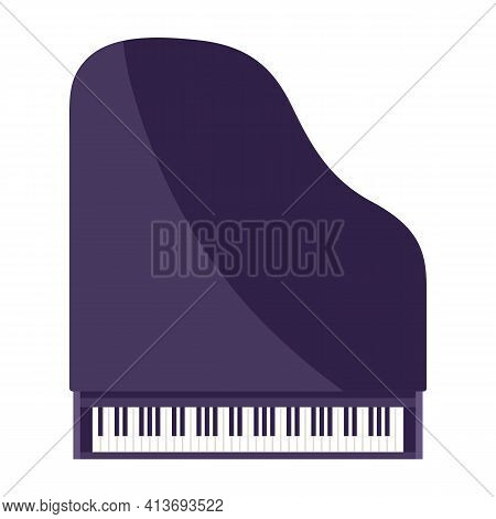 Illustration Of Grand Piano. Musical Instrument For Concert Poster.