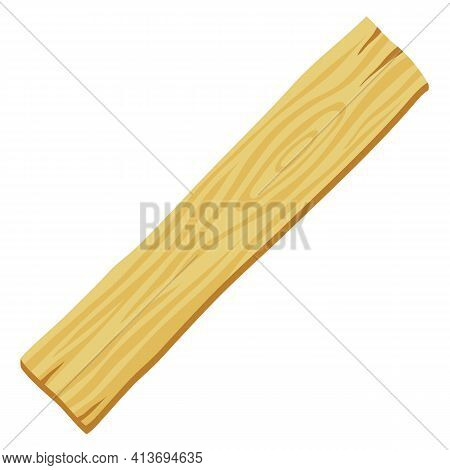 Illustration Of Wood Plank. Adversting Image For Forestry And Lumber Industry.