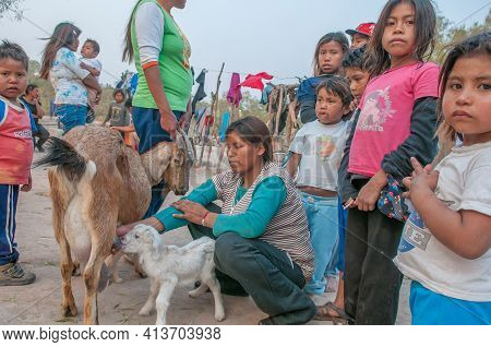 Indigenous Communities Living In Poverty And Discrimination In Chaco Province, In The North Of Argen
