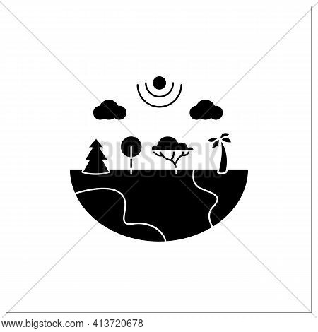 Species Diversity Glyph Icon.describe Diversity Of Living Species. Included Insects, Animals, Plants