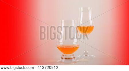Set Of Single Malt Tasting Glasses, Single Malt Whisky In A Glasses, Exclusive Set
