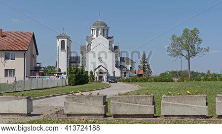 Jabucje, Serbia - April 26, 2018: Holy Archangel Michael Orthodox Church In Village Jabucje.