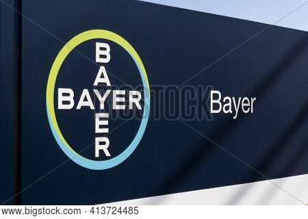 Windfall - Circa March 2021: Bayer Logo. Bayer Ag Is A Pharmaceutical And Life Sciences Company Maki