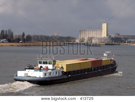 Inland Navigation Container Ship