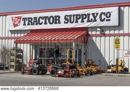 Noblesville - Circa March 2021: Tractor Supply Company Retail Location. Tractor Supply Is Listed On