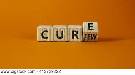 Curfew And Cure Symbol. Turned A Cube And Changed The Word 'curfew' To 'cure'. Beautiful Orange Back