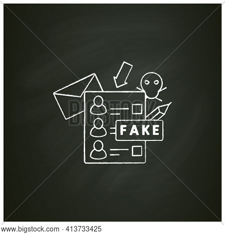Fake Ballot Chalk Icon. Empty Fraud Form Or Checklist. Choice, Vote Concept. Democracy. Parliamentar