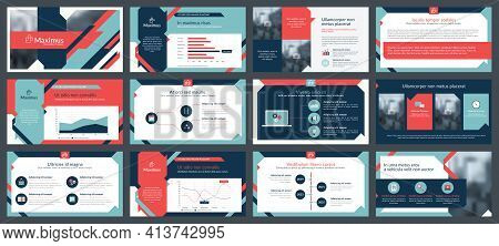 Elements Of Infographics For Presentations Templates. Annual Report, Leaflet, Book Cover Design. Bro
