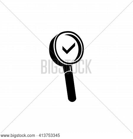 Magnifier Icon With Cek List. Magnifier Icon Illustration. Magnifier. Magnifier Icon. Eps.