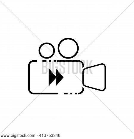 Simple Line Video Icon, Video Icon Vector, Video Camera Icon, Video Icon Set, Video Application Icon