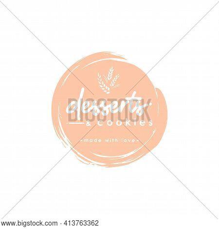 Desserts And Cookies Logo, Icon, Modern Dessert Shop Logo Design Vector Illustration