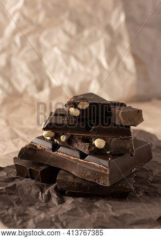 Dark Chocolate With Almonds And Hazelnuts