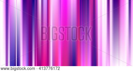 Pastel Soft Mesh. Vibrant Pink, Rose Neon Concept. Trend Multicolor Website. Holographic Vector. Glo