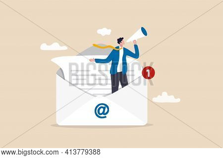Email Marketing, Crm, Subscription On Web And Sending Email Newsletter For Discount Or Promotion Inf