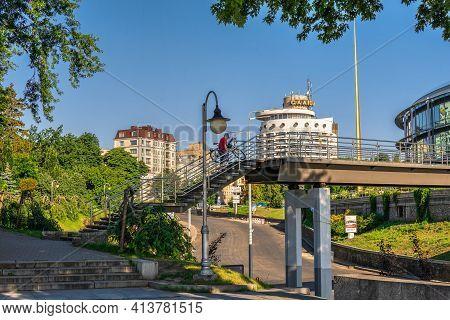 Bridge Of Kisses In Kyiv, Ukraine