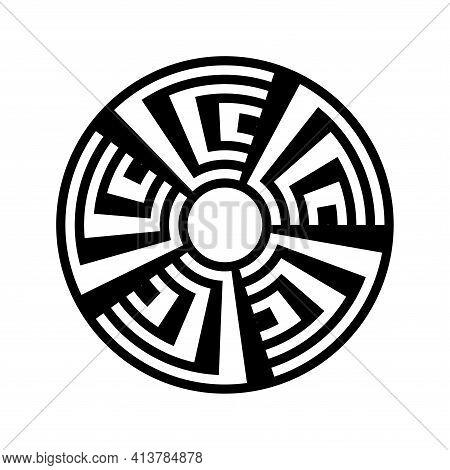 Abstract Geometric Circle Circular Design Element. Vector Art.