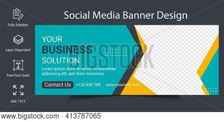 Social Media Banner Design For Digital Marketing Agency Or Cover Page Template. Online Business Web