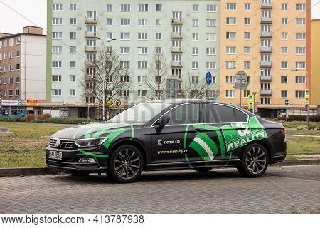 Ostrava, Czech Republic - December 13, 2020: Volkswagen Passat Fleet Car Of The Mm Reality Real Esta