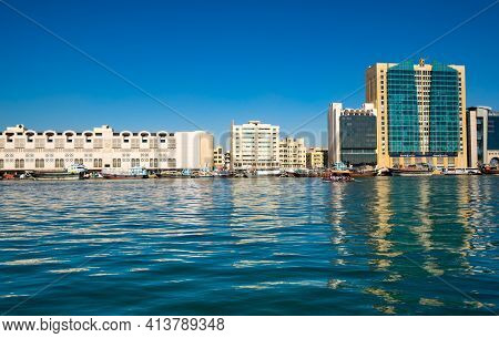 Dubai, United Arab Emirates - 04 December, 2018: View Of Dubai Creek, A Saltwater Creek Located In D