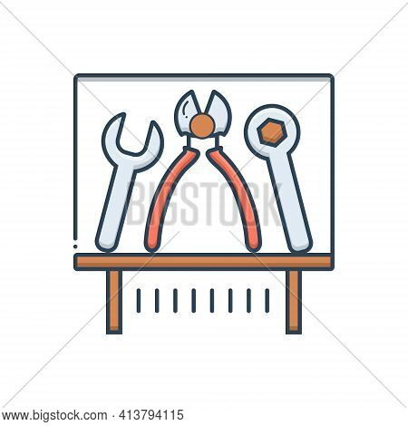 Color Illustration Icon For Tools Exhibit Equipment Appliance Apparatus Instrumentation