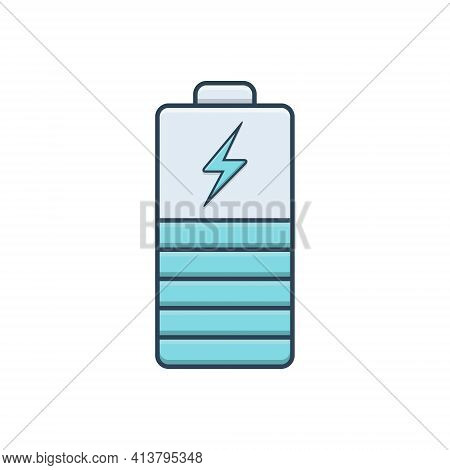 Color Illustration Icon For Battery-indicator Battery Indicator Powerful Electricity Charger