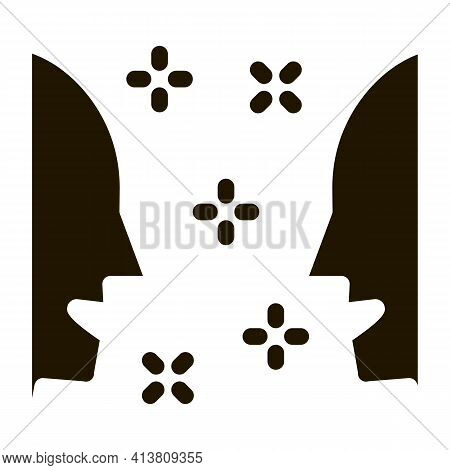 Human Lovely Look Glyph Icon Vector. Human Lovely Look Sign. Isolated Symbol Illustration