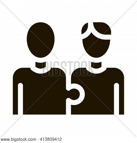 Human One Whole Glyph Icon Vector. Human One Whole Sign. Isolated Symbol Illustration