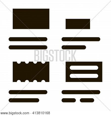 Brick Types Sizes Glyph Icon Vector. Brick Types Sizes Sign. Isolated Symbol Illustration