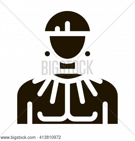 Young Aztec Man Glyph Icon Vector. Young Aztec Man Sign. Isolated Symbol Illustration