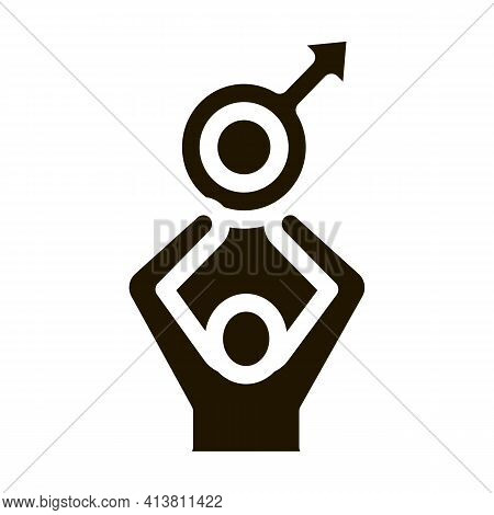 Chief In Family Glyph Icon Vector. Chief In Family Sign. Isolated Symbol Illustration