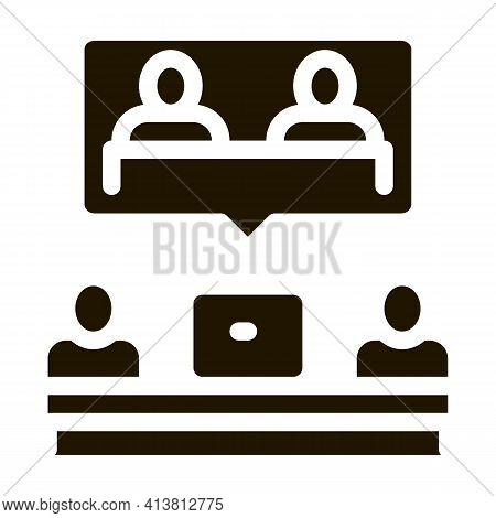Partnership Coworking Decision Glyph Icon Vector. Partnership Coworking Decision Sign. Isolated Symb