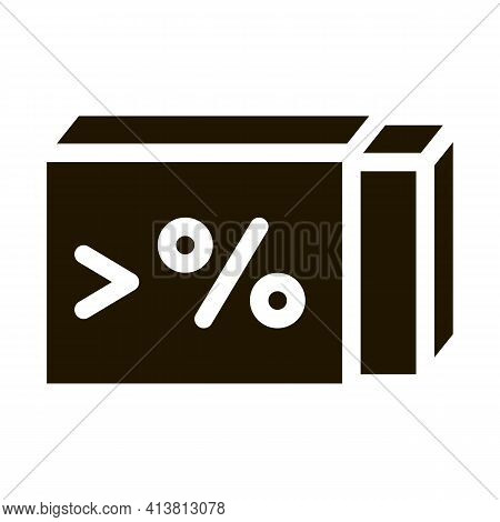 High Percentage Butter Glyph Icon Vector. High Percentage Butter Sign. Isolated Symbol Illustration