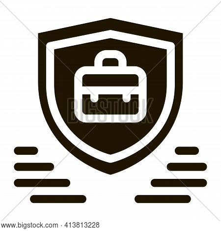 Electronic Data Protection Glyph Icon Vector. Electronic Data Protection Sign. Isolated Symbol Illus