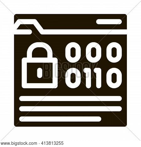 Binary Code Protection Glyph Icon Vector. Binary Code Protection Sign. Isolated Symbol Illustration