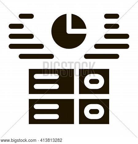 Long Data Storage Glyph Icon Vector. Long Data Storage Sign. Isolated Symbol Illustration