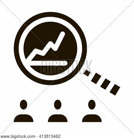 Study On Upward Profit Growth Glyph Icon Vector. Study On Upward Profit Growth Sign. Isolated Symbol