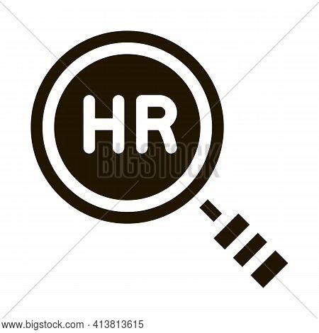 Human Resource Research Glyph Icon Vector. Human Resource Research Sign. Isolated Symbol Illustratio