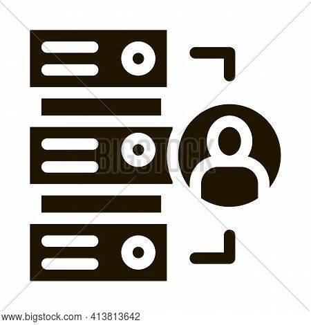 Various Human Functions Glyph Icon Vector. Various Human Functions Sign. Isolated Symbol Illustratio