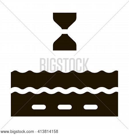 Anti-aging Cream Action Glyph Icon Vector. Anti-aging Cream Action Sign. Isolated Symbol Illustratio