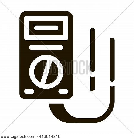 Electric Control Panel Glyph Icon Vector. Electric Control Panel Sign. Isolated Symbol Illustration
