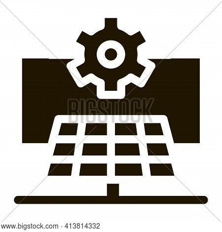 General Solar Setup Glyph Icon Vector. General Solar Setup Sign. Isolated Symbol Illustration
