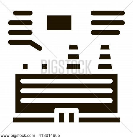 Technical Analysis Of Thermal Station Glyph Icon Vector. Technical Analysis Of Thermal Station Sign.